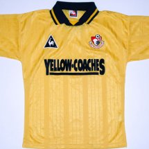 Bournemouth חוץ חולצת כדורגל 1995 - 1996 sponsored by Yellow Coaches