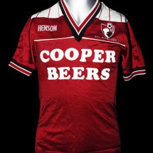 Bournemouth Home camisa de futebol 1986 - 1987 sponsored by Cooper Beers