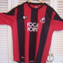 Bournemouth Home camisa de futebol 2006 - 2008 sponsored by Focal Point