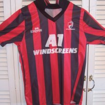 Bournemouth Home camisa de futebol 1990 - 1992 sponsored by A1 Windscreens