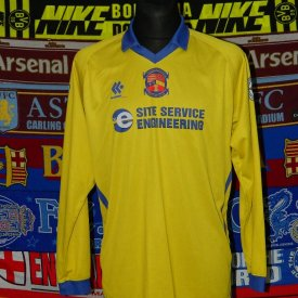Winterton Rangers Away voetbalshirt  (unknown year) sponsored by Site Service Engineering