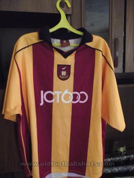 Bradford City Home Maillot de foot 2001 - 2003
