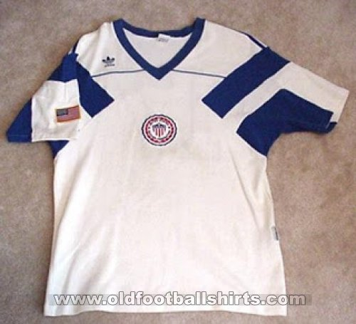 USA Home Maillot de foot 1990 - 1992