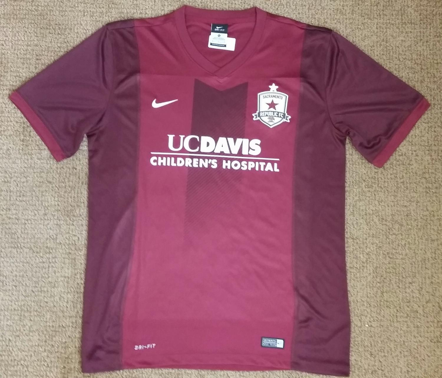 Sacramento republic fc home football shirt 2016 added on for Custom t shirts sacramento