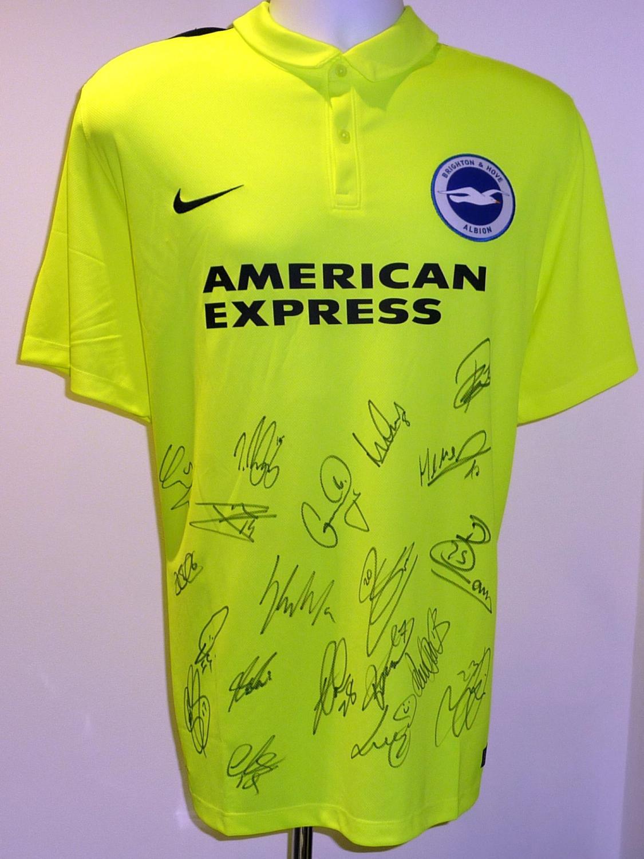 5a1e633a03 Brighton & Hove Albion Away camisa de futebol 2015 - 2016. Sponsored ...