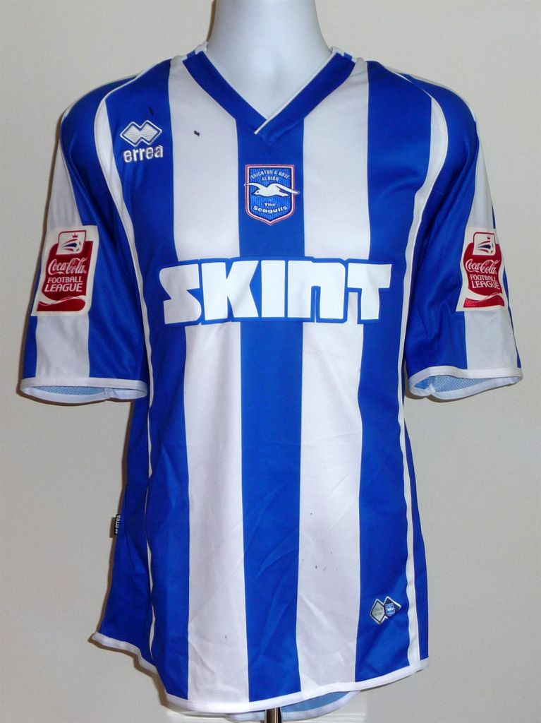 Brighton Amp Hove Albion Home Football Shirt 2006 2008 Added On 2007 08 09 10 19