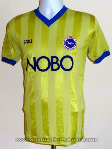 Brighton & Hove Albion Away voetbalshirt  1987 - 1989