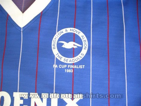 Brighton & Hove Albion Retro Replicas football shirt 1983 - 1984