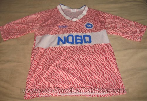 Brighton & Hove Albion Away football shirt 1989 - 1991