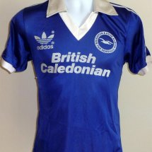 Brighton & Hove Albion Home φανέλα ποδόσφαιρου 1980 - 1983 sponsored by British Caledonian