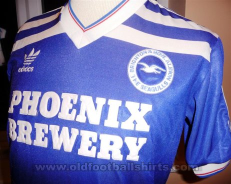 Brighton & Hove Albion Local Camiseta de Fútbol 1985 - 1986