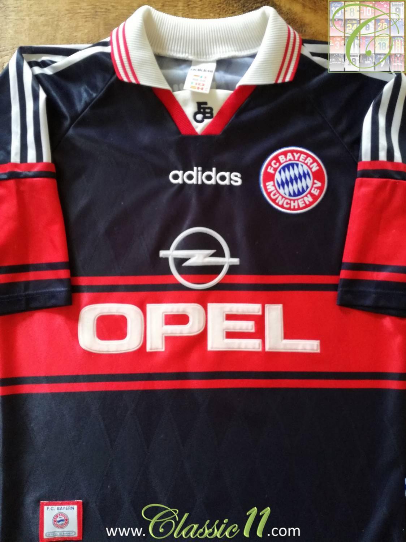 Bayern Munich Home maglia di calcio 1997 - 1998. Sponsored by Opel