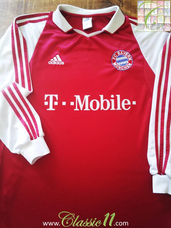 Bayern Munich Home maglia di calcio 2003 - 2004. Sponsored by T-Mobile