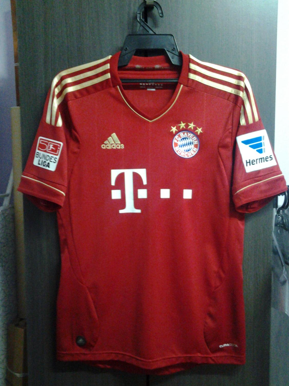 Bayern Munich Home football shirt 2012 - 2013. Sponsored by ...