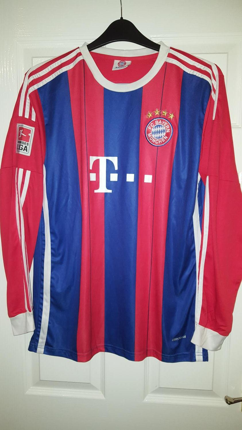 bayern munich retro replicas football shirt 2014 sponsored by t mobile. Black Bedroom Furniture Sets. Home Design Ideas