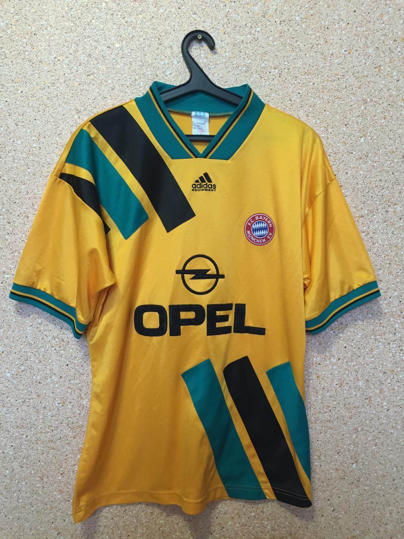 Bayern Munich Away football shirt 1993 - 1995. Sponsored by Opel