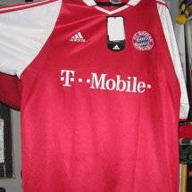 Bayern Munich Home football shirt 2003 - 2004 sponsored by T-Mobile