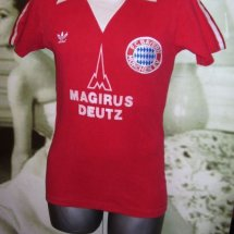 Bayern Munich Home football shirt 1978 - ? sponsored by Magirus Deutz