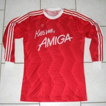 Bayern Munich Home football shirt 1988 sponsored by Amiga