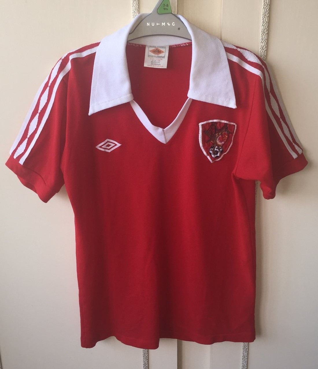 Fußball-Trikots Manchester City maglia jersey shirt camiseta trikot Umbro 1981 football vintage