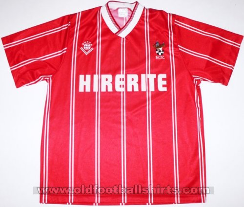 Bristol City Home baju bolasepak 1988 - 1990