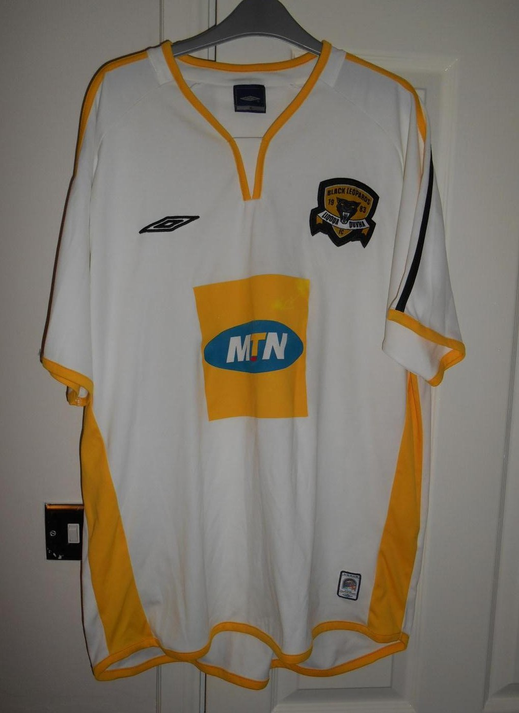 Black Leopards FC Away football shirt (unknown year). - photo#45