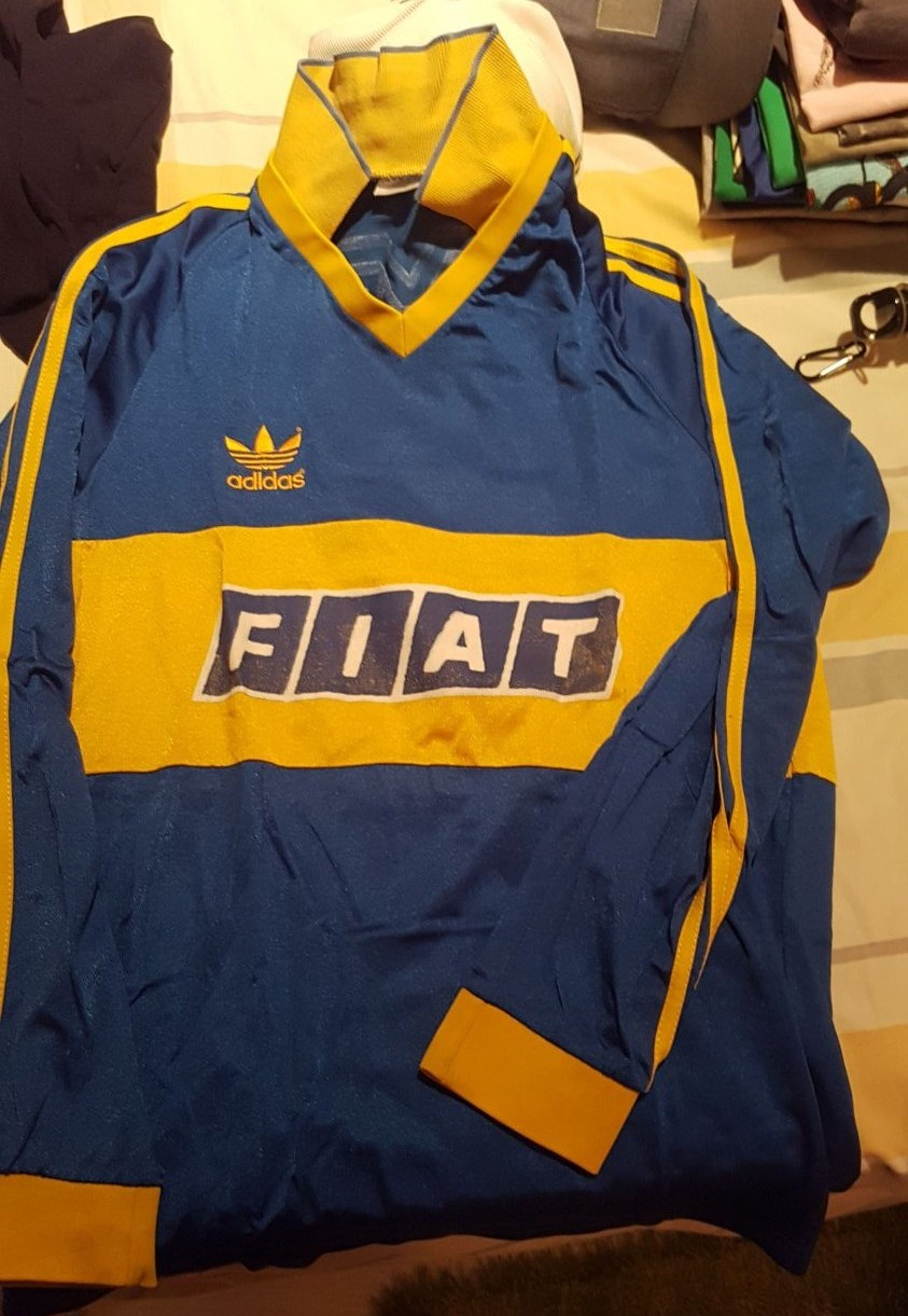 new arrival a029f a92db Boca Juniors Home football shirt 1989 - 1992. Sponsored by Fiat
