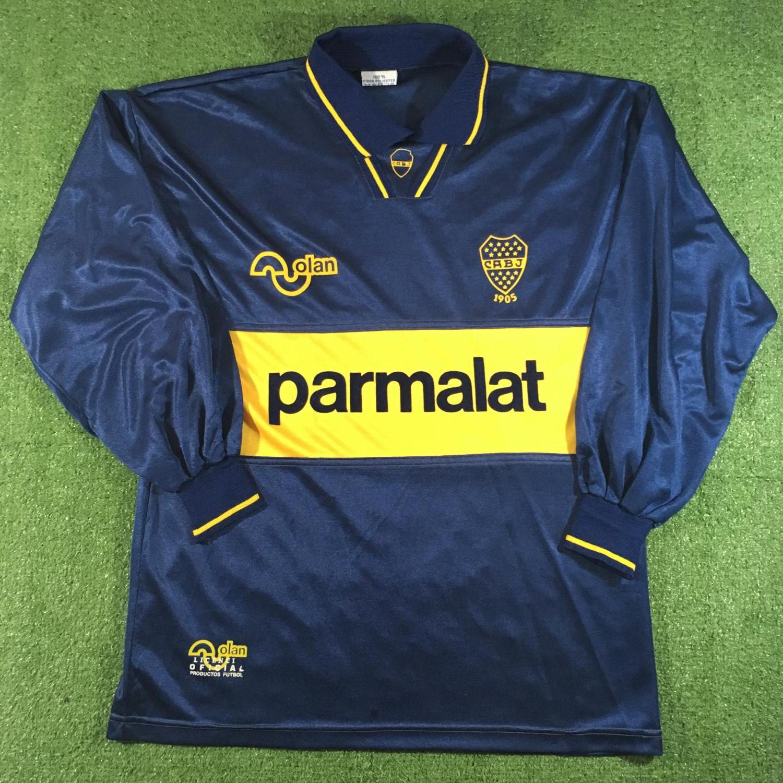 brand new 57f44 2327d Boca Juniors Home Maillot de foot 1993 - 1995. Sponsored by ...
