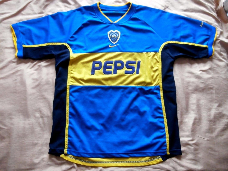 Boca Juniors Home maglia di calcio 2002.