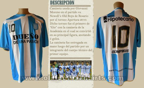 Racing Club Home football shirt 2010 - 2012