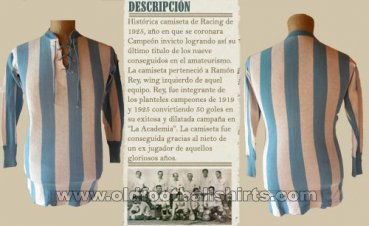 Racing Club Home Fußball-Trikots 1925
