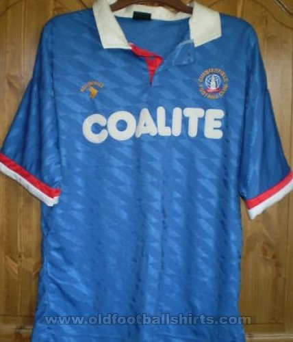 Chesterfield Home football shirt 1990 - 1992
