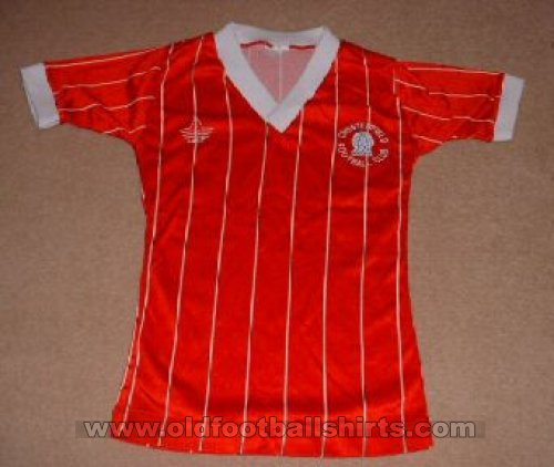 Chesterfield Away baju bolasepak 1983 - 1985