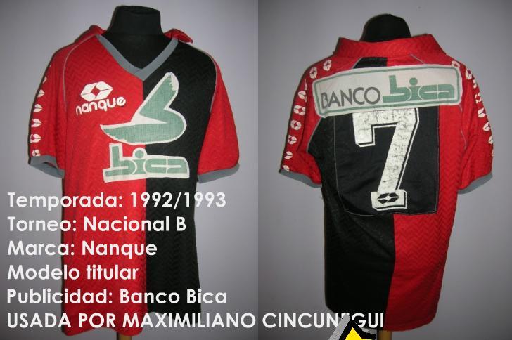 Colon De Santa Fe Detail: Colon Santa Fe Home Camiseta De Fútbol 1992