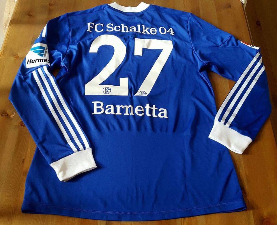 FC Schalke 04 Home maglia di calcio 2012 - 2013. Sponsored by Gazprom