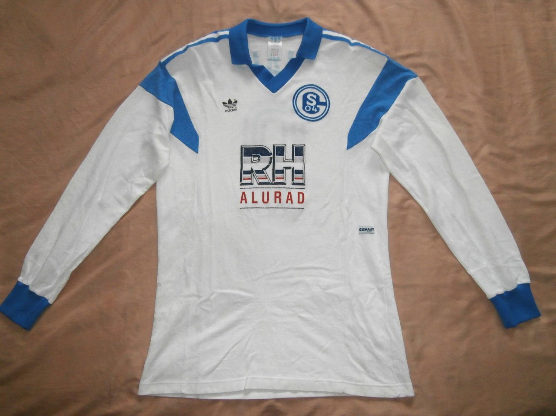 eda022f37 FC Schalke 04 Away camisa de futebol 1988 - 1989. Sponsored by RH Alurad