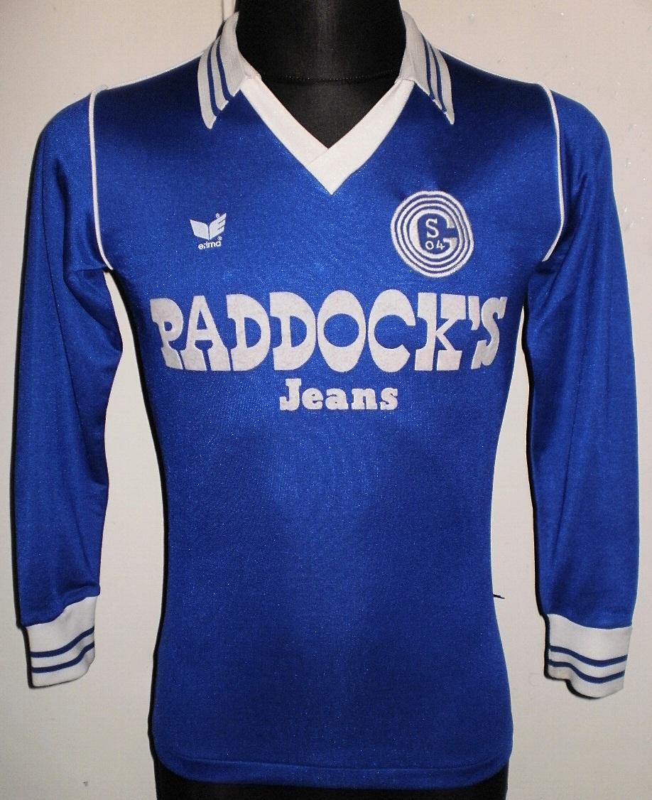 FC Schalke 04 Home football shirt 1983 - 1984. Sponsored by ...