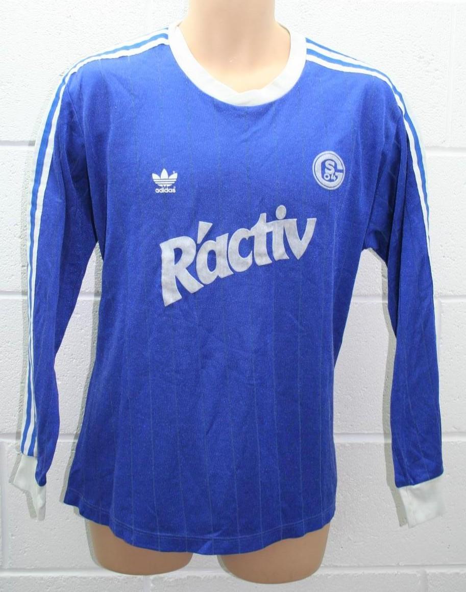 FC Schalke 04 Home football shirt 1991 - 1992. Sponsored by R'activ