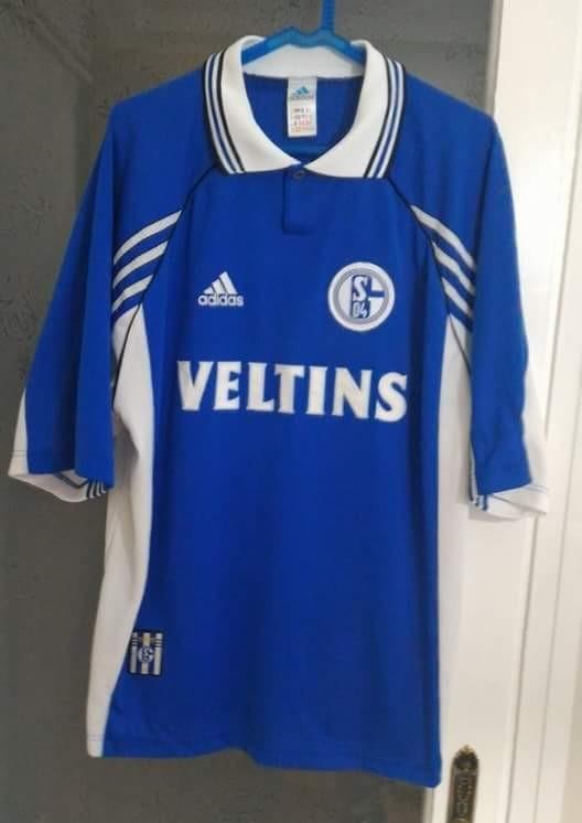 f62abaea8 FC Schalke 04 Home maglia di calcio 1998 - 2000. Sponsored by Veltins