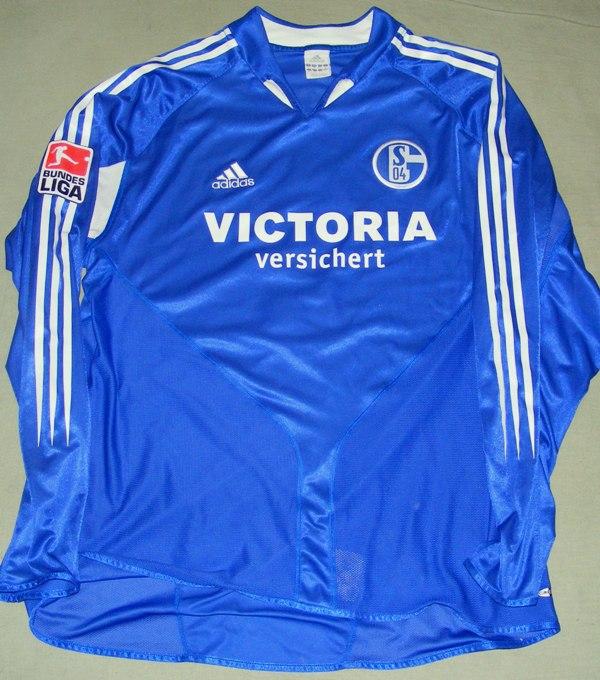 29d4805f0c6 FC Schalke 04 Home maglia di calcio 2003 - 2004. Sponsored by ...