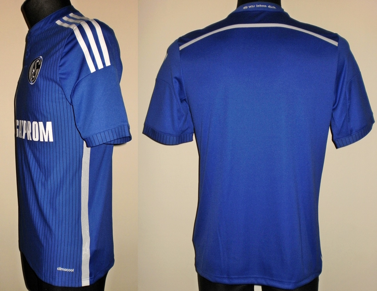 FC Schalke 04 Home maglia di calcio 2014 - 2015. Sponsored by Gazprom