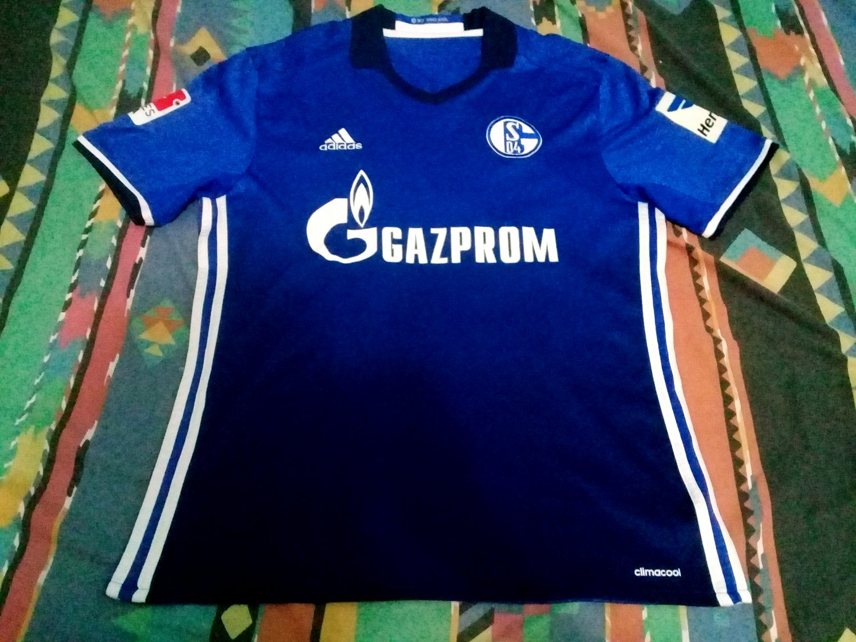 FC Schalke 04 Home Camiseta de Fútbol 2016 - 2018. Sponsored by ...