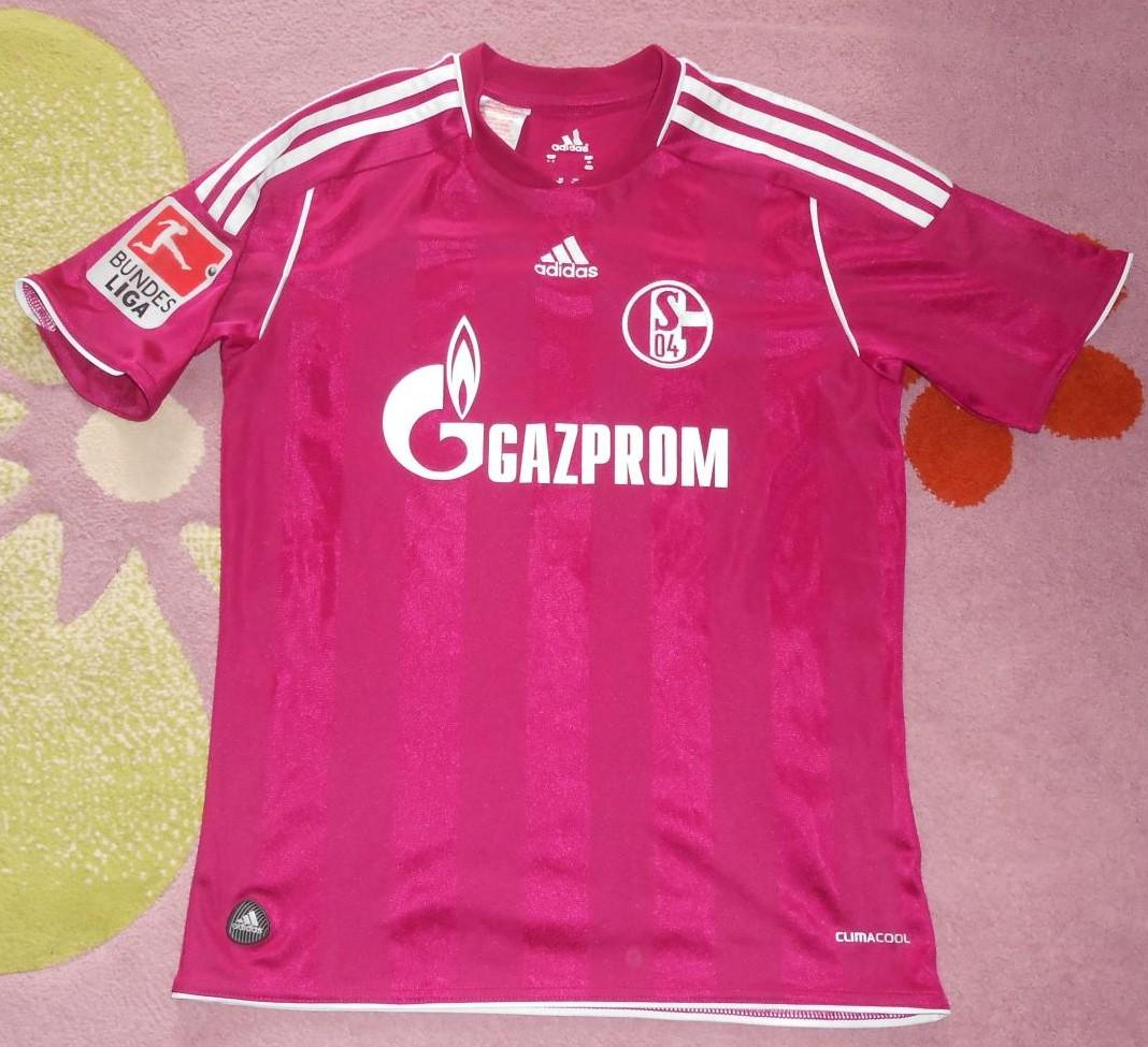 FC Schalke 04 Third football shirt 2011 - 2012. Sponsored by Gazprom