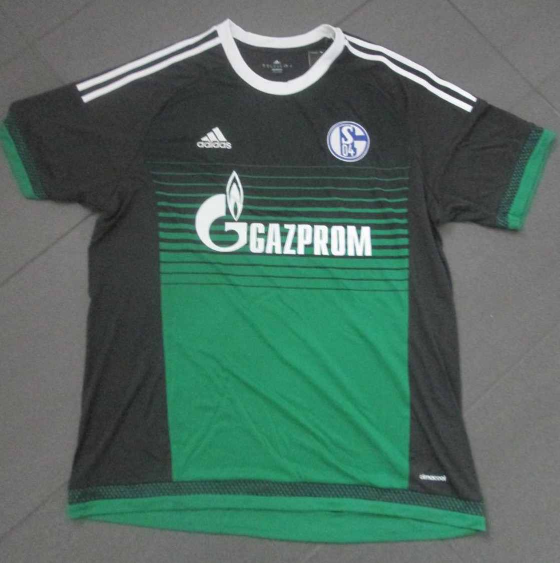 FC Schalke 04 Third football shirt 2015 - 2016. Sponsored by Gazprom