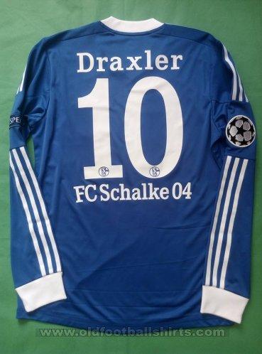 FC Schalke 04 Home maglia di calcio 2013 - 2014. Sponsored by Gazprom