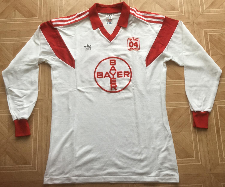 Bayer 04 Leverkusen Maglia da trasferta maglia di calcio 1986 ...