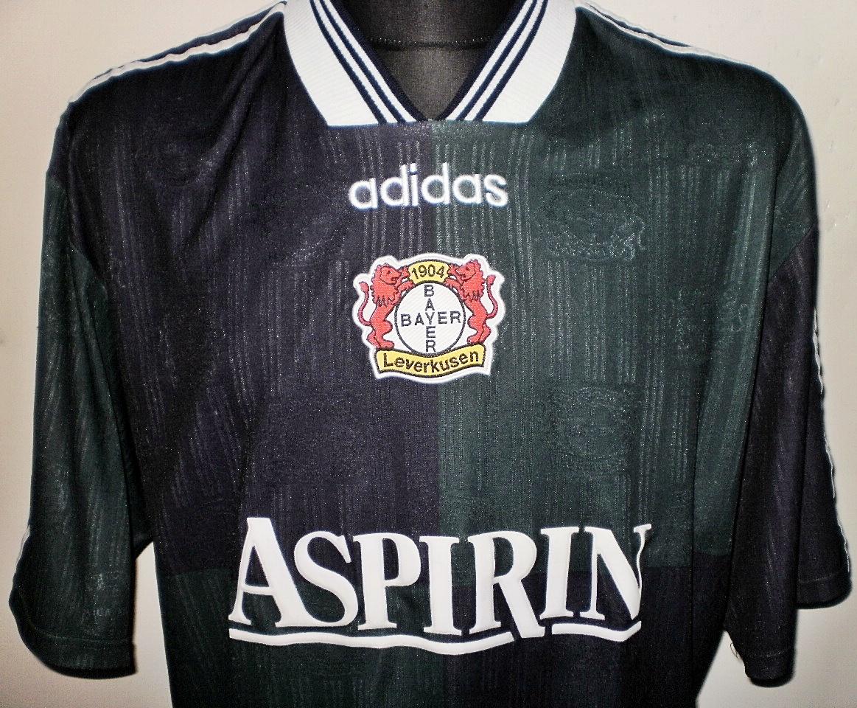Bayer 04 Leverkusen Maglia da trasferta maglia di calcio 1997 ...