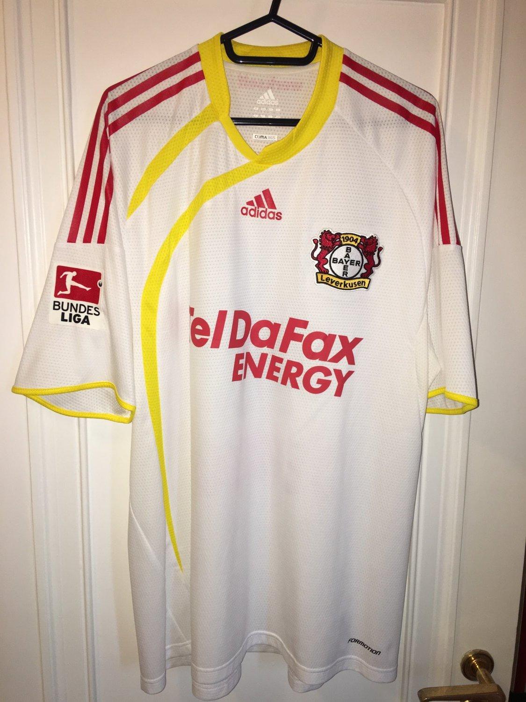 Bayer 04 Leverkusen Maglia da trasferta maglia di calcio 2009 ...