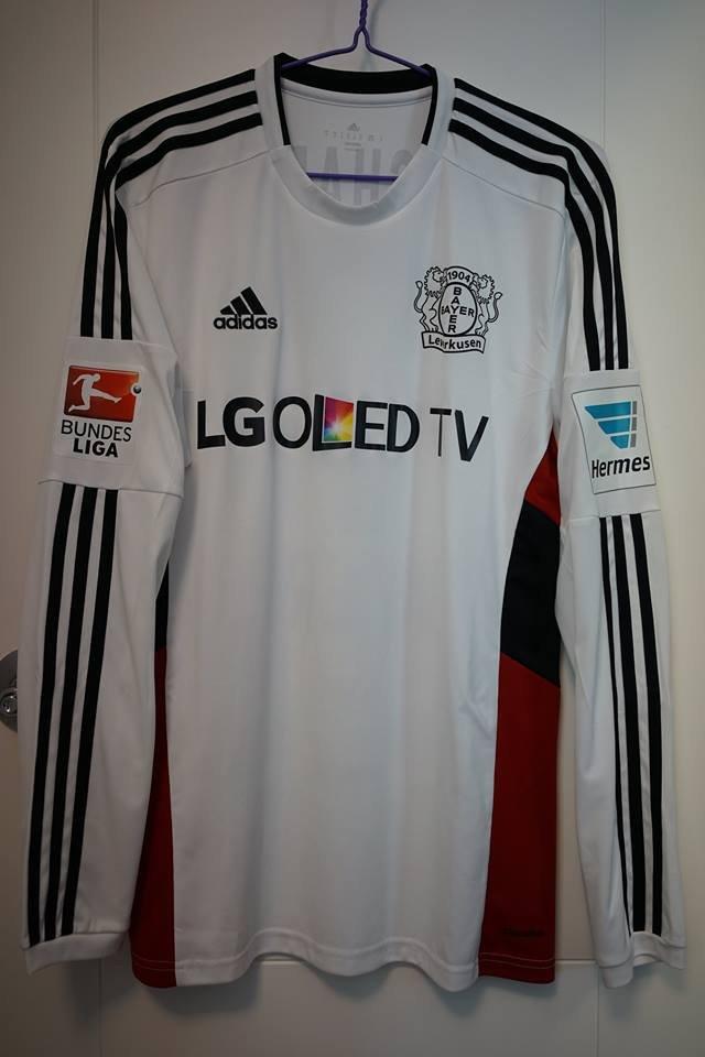 Bayer 04 Leverkusen Away football shirt 2015 - 2016. Sponsored by LG
