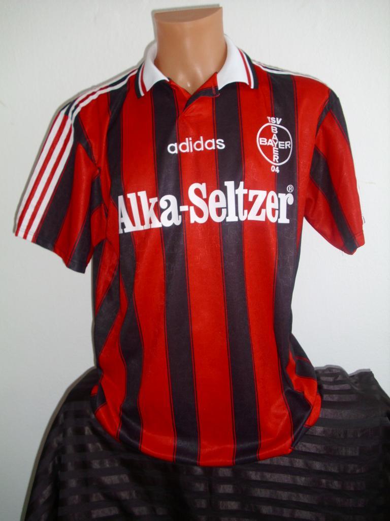 Bayer 04 Leverkusen Home maglia di calcio 1995 - 1996. Sponsored ...